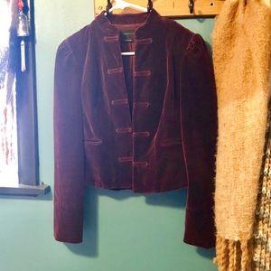 Victorian style plum velvet blazer